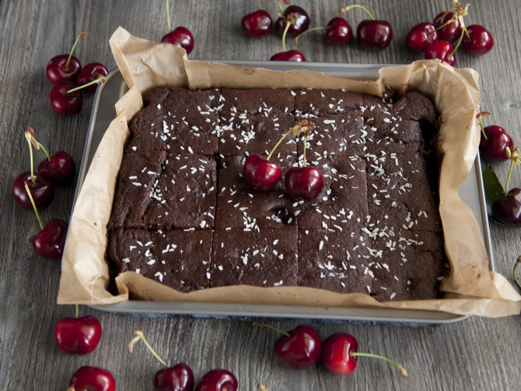 Three Silver Spoons - Gluten-Free Chocolate Cherry Cake