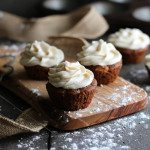 Gluten Free Carrot Cupcakes with Cream Cheese Frosting