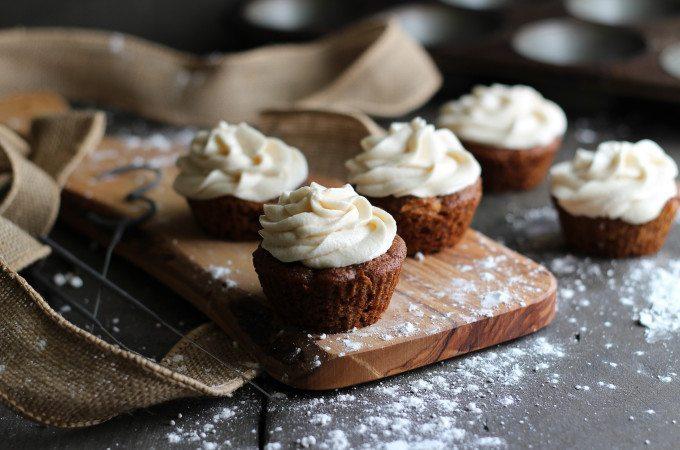 Gluten Free Vegan Carrot Cupcakes - Three Silver Spoons