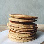 Vanilla and Lemon Buckwheat Ricotta Pancakes