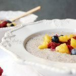 Warm Coconut Chia Pudding with Mango & Fresh Berries
