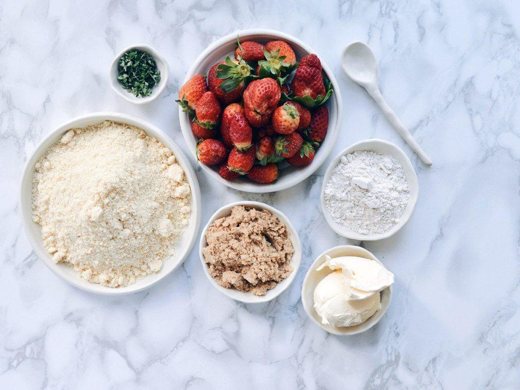 Gluten Free Lemon Thyme Cake - Three Silver Spoons