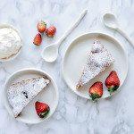 Gluten Free Strawberry & Thyme Cake