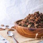 Choc Pecan Maca Granola - Three Silver Spoons