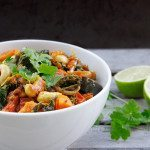 Sweet Potato and Kale Curry with Cashews