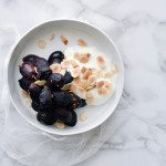Roast Grapes with Yoghurt