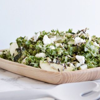 Virtuous Kale Salad - Three Silver Spoons