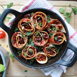 Tomato & Basil Tortilla Twirls - Three Silver Spoons